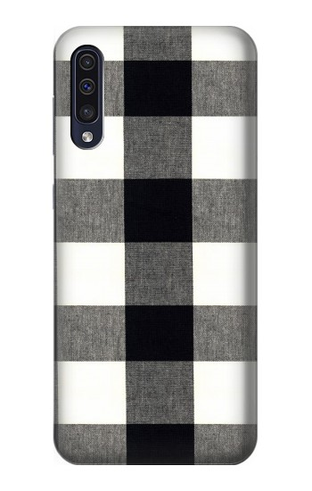 Printed Black and White Buffalo Check Pattern Samsung Galaxy A50 Case