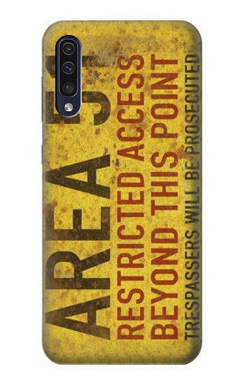 Printed Area 51 Restricted Access Warning Sign Samsung Galaxy A50 Case