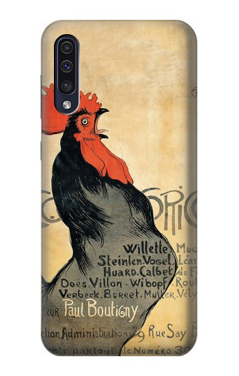 Printed Cocorico Rooster Vintage French Poster Samsung Galaxy A50 Case
