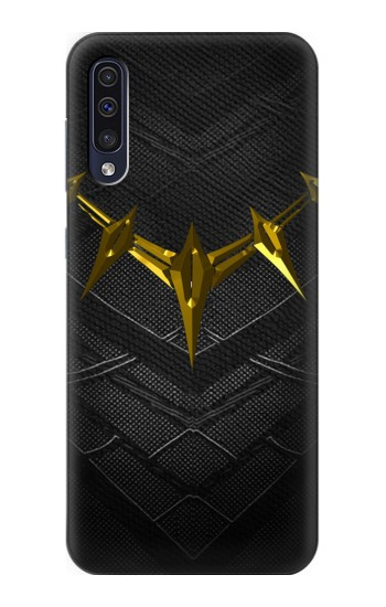 Printed Black Panther Inspired Costume Gold Necklace Samsung Galaxy A50 Case