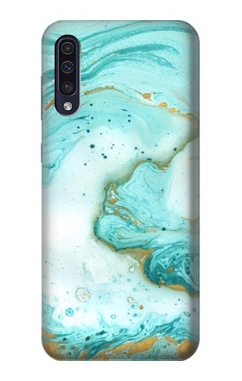 Printed Green Marble Graphic Print Samsung Galaxy A50 Case