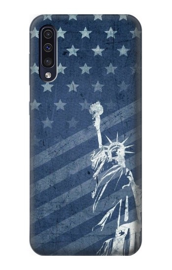 Printed US Flag Liberty Statue Samsung Galaxy A50 Case