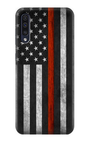 Printed Firefighter Thin Red Line Flag Samsung Galaxy A50 Case