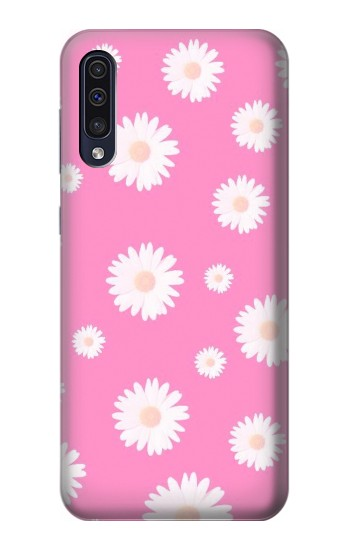 Printed Pink Floral Pattern Samsung Galaxy A50 Case