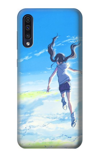Printed Weathering With You Amano Hina Samsung Galaxy A50 Case