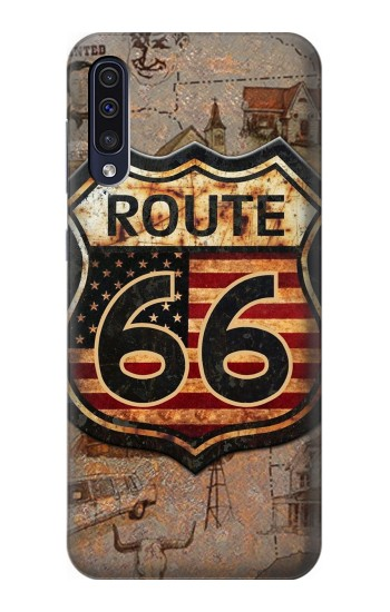 Printed Route 66 Samsung Galaxy A50 Case
