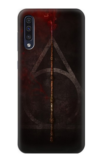 Printed Deathly Hallows Magic Wand Red Samsung Galaxy A50 Case