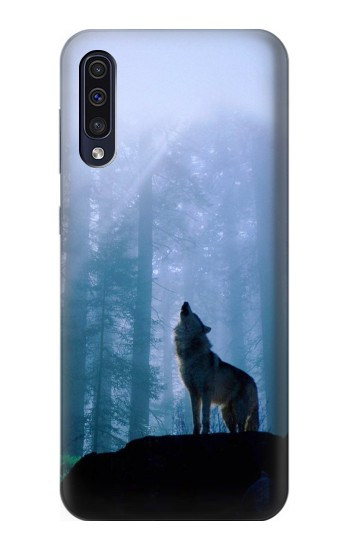 Printed Wolf Howling in Forest Samsung Galaxy A70 Case