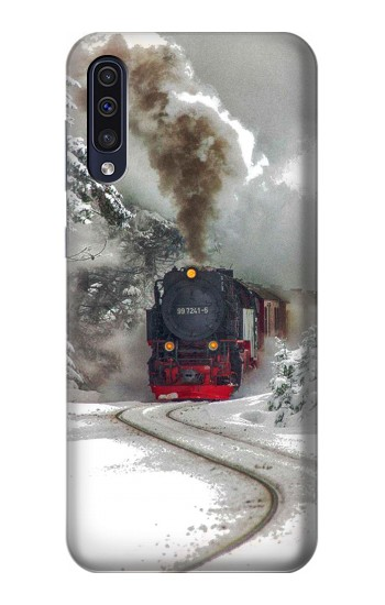 Printed Steam Train Samsung Galaxy A70 Case