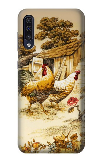 Printed French Country Chicken Samsung Galaxy A70 Case