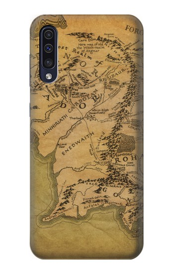 Printed The Lord Of The Rings Middle Earth Map Samsung Galaxy A70 Case
