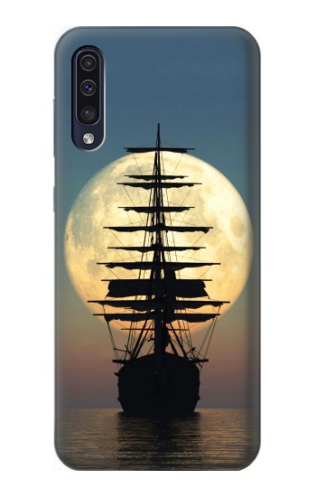 Printed Pirate Ship Moon Night Samsung Galaxy A70 Case