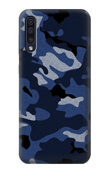 Printed Navy Blue Camouflage Samsung Galaxy A70 Case