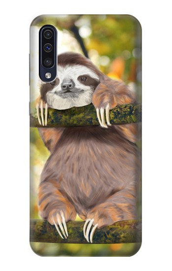 Printed Cute Baby Sloth Paint Samsung Galaxy A70 Case