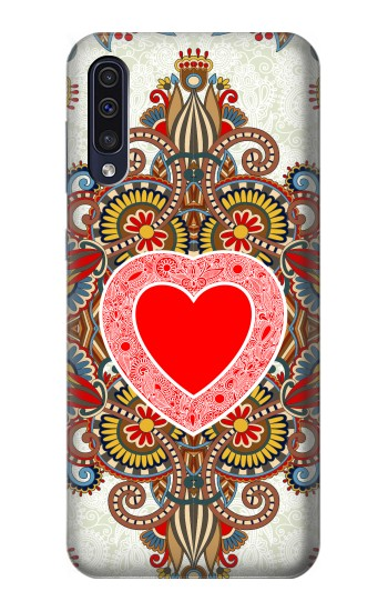 Printed Heart Pattern Line Art Samsung Galaxy A70 Case