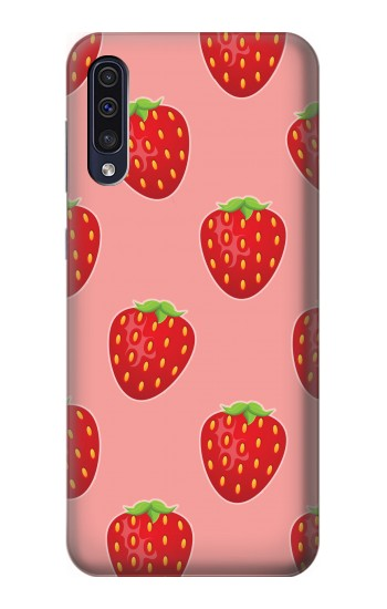 Printed Strawberry Fruit Pattern Samsung Galaxy A70 Case