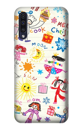 Printed Kids Drawing Samsung Galaxy A70 Case