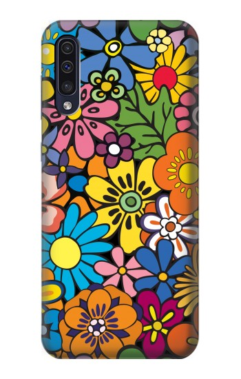 Printed Colorful Flowers Pattern Samsung Galaxy A70 Case