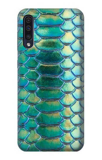 Printed Green Snake Scale Graphic Print Samsung Galaxy A70 Case