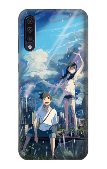 Printed Weathering With You Tenki No Ko Samsung Galaxy A70 Case