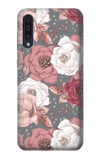 Printed Rose Floral Pattern Samsung Galaxy A70 Case