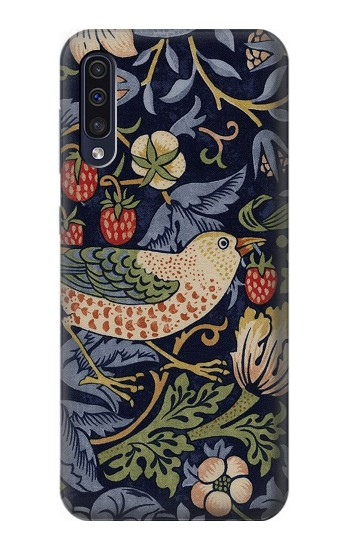 Printed William Morris Strawberry Thief Fabric Samsung Galaxy A70 Case