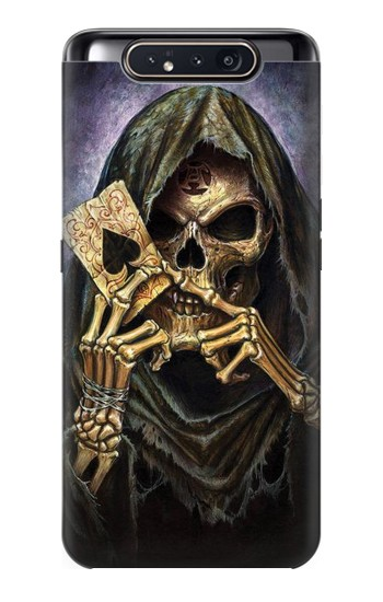 Printed Grim Reaper Wins Poker Samsung Galaxy A80 Case