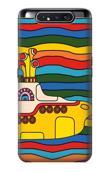 Printed Hippie Yellow Submarine Samsung Galaxy A80 Case