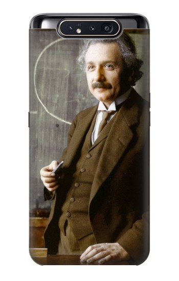 Printed Albert Einstein Samsung Galaxy A80 Case