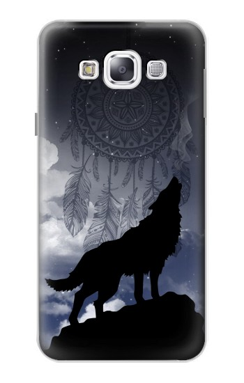 Printed Dream Catcher Wolf Howling Samsung Galaxy E5 Case