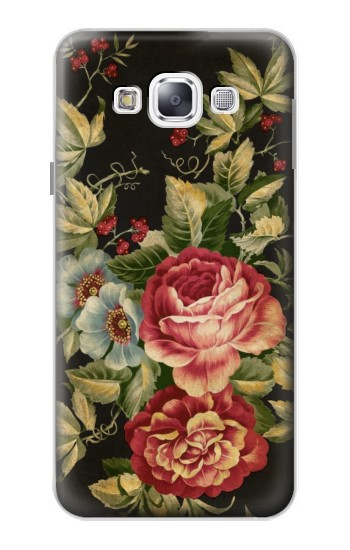Printed Vintage Antique Roses Samsung Galaxy E5 Case