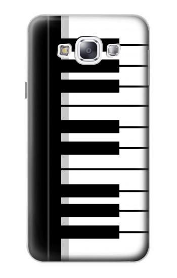 Printed Black and White Piano Keyboard Samsung Galaxy E5 Case