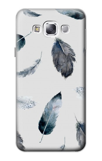 Printed Feather Paint Pattern Samsung Galaxy E5 Case