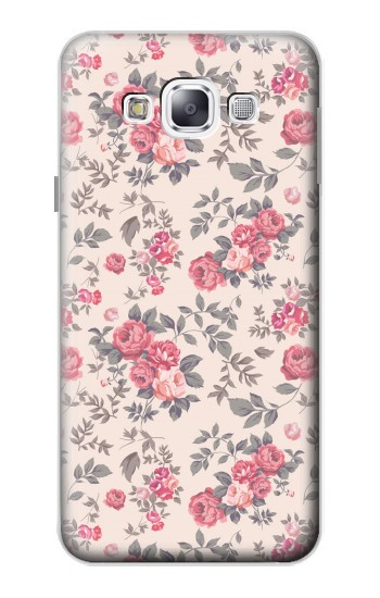 Printed Vintage Rose Pattern Samsung Galaxy E5 Case