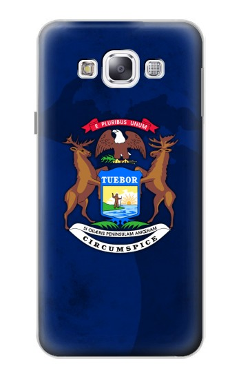 Printed State of Michigan Flag Samsung Galaxy E5 Case