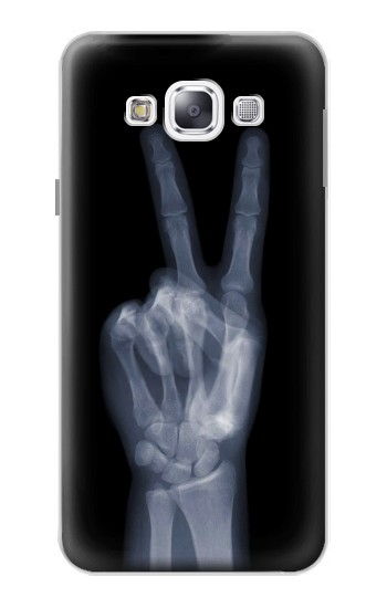 Printed X-ray Peace Finger Samsung Galaxy E5 Case