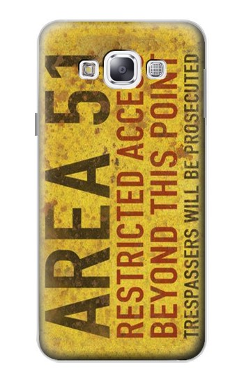 Printed Area 51 Restricted Access Warning Sign Samsung Galaxy E5 Case