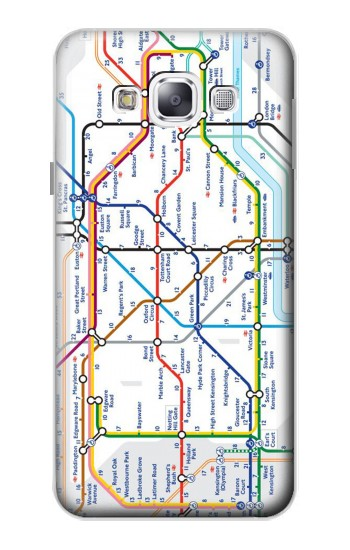 Printed London Underground Map Samsung Galaxy E5 Case