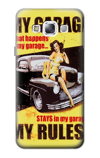Printed My Garage Pinup Girl Samsung Galaxy E5 Case