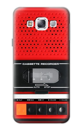 Printed Red Cassette Recorder Graphic Samsung Galaxy E5 Case