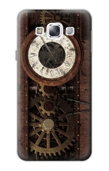 Printed Steampunk Clock Gears Samsung Galaxy E5 Case