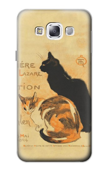 Printed Vintage Cat Poster Samsung Galaxy E5 Case