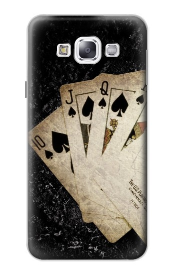 Printed Vintage Royal Straight Flush Cards Samsung Galaxy E5 Case