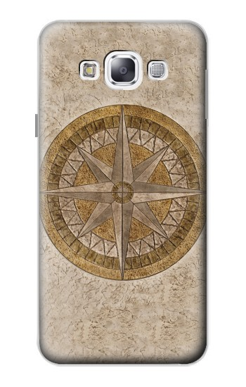 Printed Windrose Circle Stamp Samsung Galaxy E5 Case