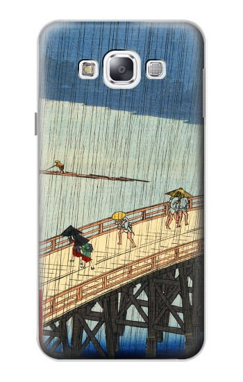 Printed Utagawa Hiroshige Sudden shower over Shin Oashi bridge and Atake Samsung Galaxy E5 Case