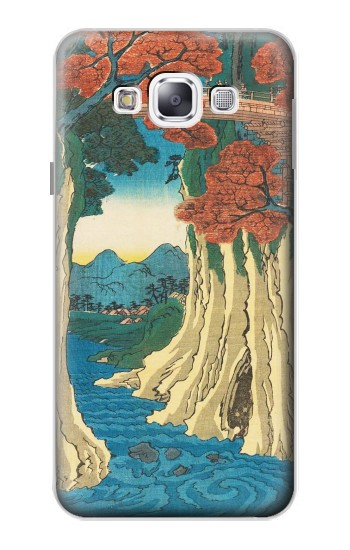 Printed Utagawa Hiroshige The Monkey Bridge in Kai Province Samsung Galaxy E5 Case
