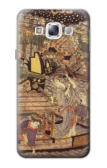 Printed Utagawa Kuniyasu Fireworks at Ryogoku Bridge Samsung Galaxy E5 Case
