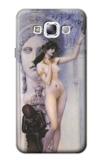 Printed Gustav Klimt Allegory of Sculpture Samsung Galaxy E5 Case