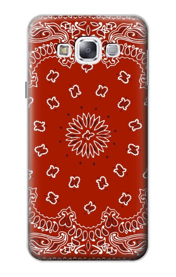 Printed Bandana Red Pattern Samsung Galaxy E5 Case