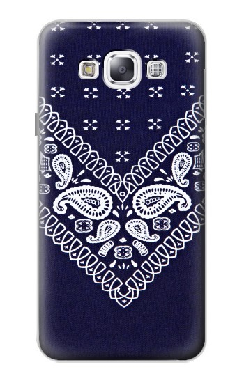 Printed Navy Blue Bandana Pattern Samsung Galaxy E5 Case